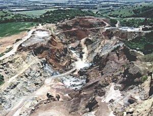 L'area di Genna Luas prima della costruzione della discarica [4]