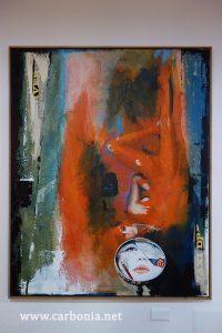 """Una delle opere di Liberati presenti alla mostra """"Fotogrammi Dipinti"""""""