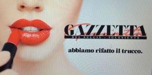 Un'immagine pubblicitaria con la nuova veste grafica della Gazzetta del Sulcis