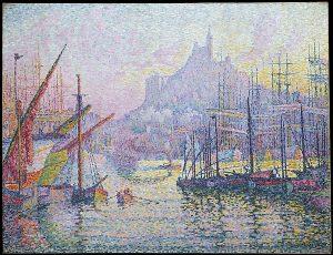 Paul Signac. Notre-Dame-de-la-Garde (La Bonne-Mère). Opera puntinista esposta al Metropolitan di New York