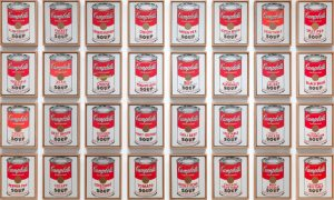 Andy Warhol. Campbell's Soup Cans. Esposto al Moma di New York