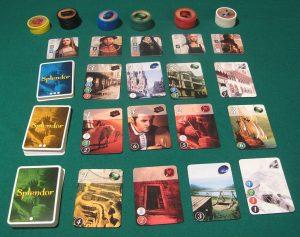 Immagine di Splendor, gioco in cui ci si cala nei panni di commercianti di gemme.