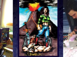 Foto di copertina con gli autori e l'illustrazione del peso della cultura