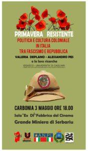 Immagine della locandina della conferenza sulla politica e sulla cultura coloniale in Italia tra fascismo e repubblica.