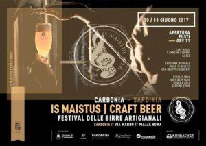 La locandina ufficiale di Is Maistus con varie info sull'evento di Carbonia.