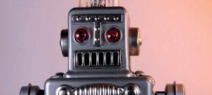 Immagine di un simpatico robot presa dalla brochure del FabLAB.