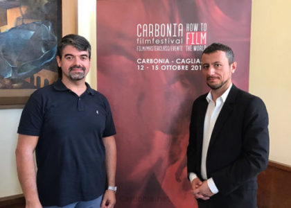 Paolo Serra e Francesco Giai Via in occasione della presentazione di How To Film The World.