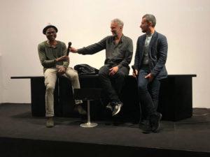 Daniele Gaglianone e Alfie Nze al Carbonia Film Festival nella tappa di Cagliari.
