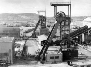 Miniera di Serbariu a Carbonia - foto storica.